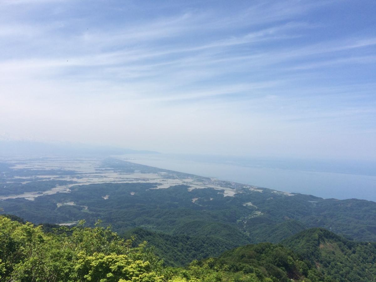 米山と刈羽黒姫山